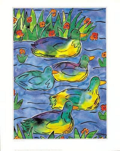 Ducks on Patrol-Lisa V^ Keaney-Art Print