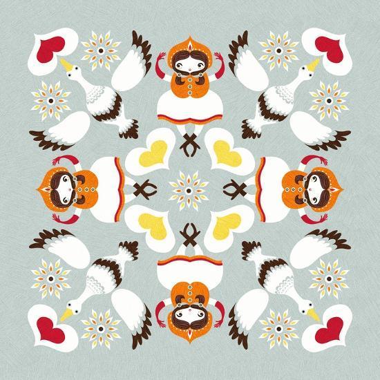 Ducks Pillow-Gaia Marfurt-Giclee Print