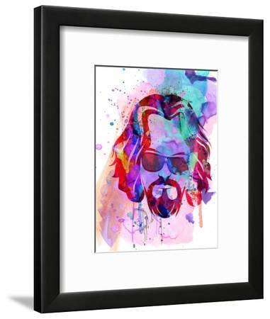 Dude Watercolor-Anna Malkin-Framed Art Print