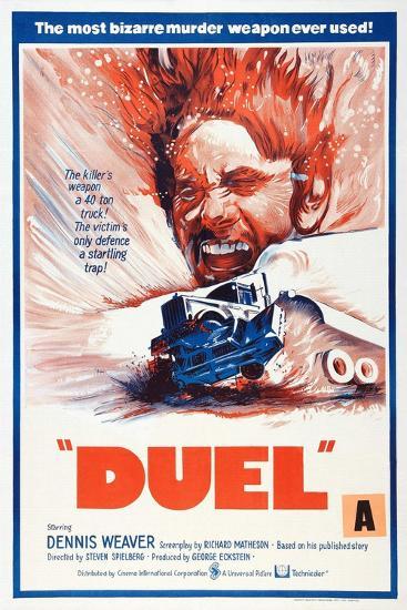Duel, New Zealand poster, Dennis Weaver, 1971--Art Print