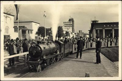 Düsseldorf, Große Ausstellung 1926, Liliput Dampflok--Giclee Print