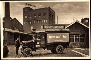 Düsseldorf, Lkw Mit Werbung Dietrich's Bier