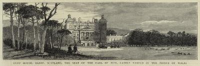 Duff House, Banff, Scotland, the Seat of the Earl of Fife, Lately Visited by the Prince of Wales--Giclee Print