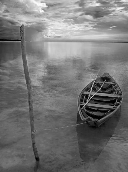 Dug Out Canoe Used by Local Fishermen Pulled Up on Banks of Rio Tarajos, Tributary of Amazon River-Mark Hannaford-Photographic Print
