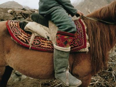A Kirghiz Nomad on Horseback by Dugald Bremner