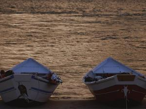 Two Wooden Dories on the Shore of the Colorado River by Dugald Bremner