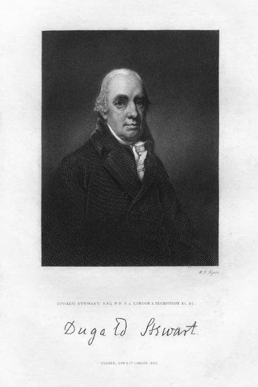 Dugald Stewart (1753-182), Scottish Philosopher, 19th Century-WH Ligars-Giclee Print