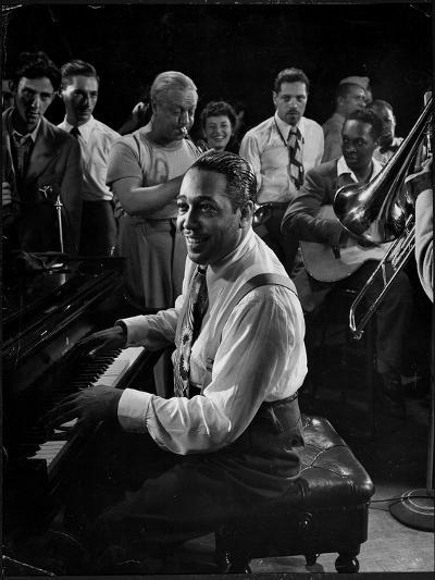 Duke Ellington Playing Don't Get Around Much Anymore-Gjon Mili-Premium Photographic Print