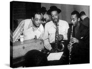 Duke Ellington with Ben Webster and Jimmy Hamilton at Carnegie Hall, 1948