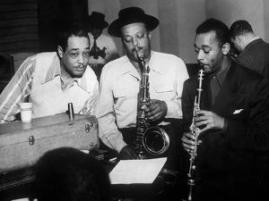 Duke Ellington with Ben Webster and Jimmy Hamilton at Carnegie Hall, 1948
