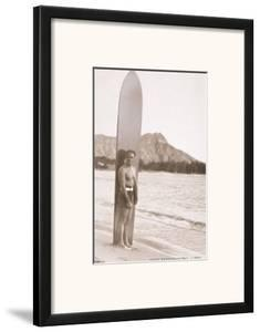Duke Kahanamoku with Surfboard, Hawaii, c.1930