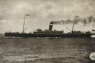 """""""Duke of Connaught"""", Fleetwood and Belfast Service--Photographic Print"""