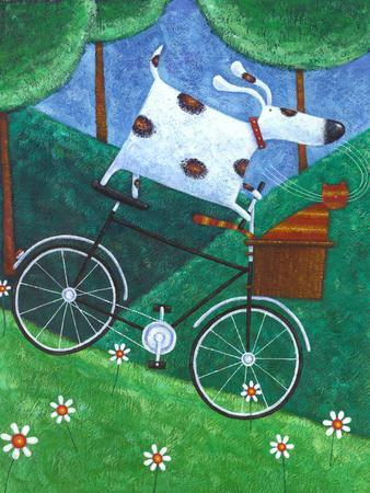 Duke's Bike Ride-Peter Adderley-Art Print