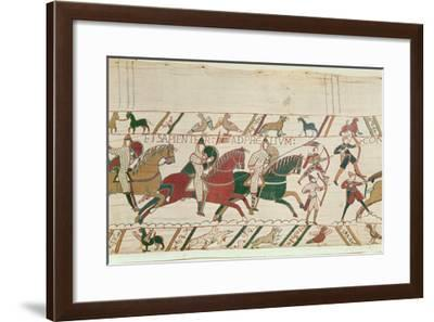 Duke William (C.1028-87) Exhorts His Troops to Prepare Themselves Manfully and Prudently for Battle-French-Framed Giclee Print