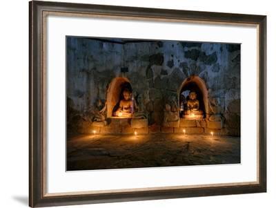 Dukkanthein Pagoda, Dated 1571, Mrauk U, Rakhaing State, Myanmar (Burma), Asia-Nathalie Cuvelier-Framed Photographic Print