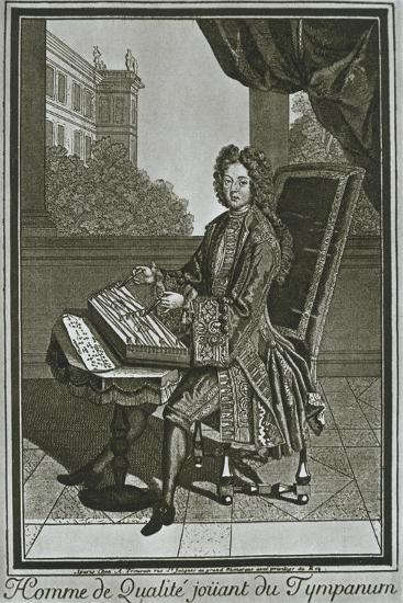 'Dulcimer (tympanum), French engraving of the seventeenth century', 1948-Unknown-Giclee Print
