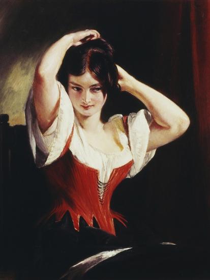 Dulcinea Del Toboso, the Peasant Mistress of Don Quixote, c.1839-Charles Robert Leslie-Giclee Print