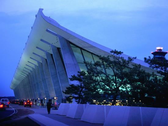 Dulles International Airport at Night, Washington Dc, USA-Rick Gerharter-Photographic Print