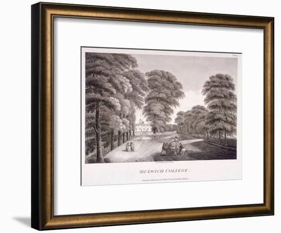 Dulwich College, Camberwell, London, 1792-William Ellis-Framed Premium Giclee Print