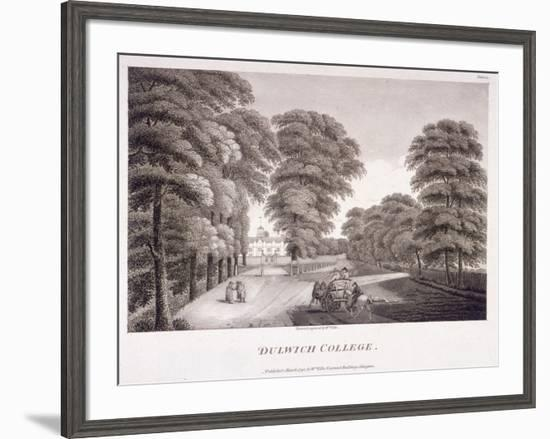 Dulwich College, Camberwell, London, 1792-William Ellis-Framed Giclee Print