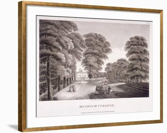 Dulwich College, Camberwell, London, 1792-William Ellis-Framed Giclee Print