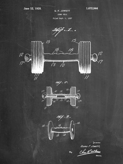 Dumbbell Patent-Cole Borders-Art Print