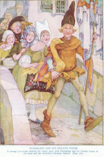 Dummling and His Golden Goose: a Strange Procession Entered the Palace Yard-Anne Anderson-Giclee Print