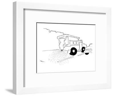 Dump truck spreading sprinkles onto the street. - New Yorker Cartoon-Michael Shaw-Framed Premium Giclee Print