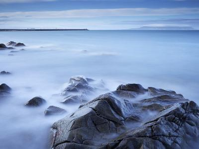 Dun Laoghaire Pier and Howth Island, Dublin, County Dublin, Republic of Ireland, Europe-Jeremy Lightfoot-Photographic Print