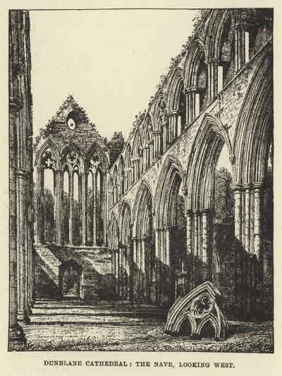 Dunblane Cathedral, the Nave, Looking West--Giclee Print
