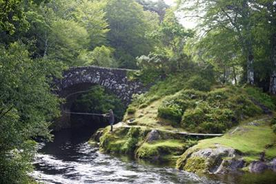 Fly Fishing on the River Shiel, Near Acharacle, Invernesshire, Scotland, United Kingdom, Europe by Duncan Maxwell