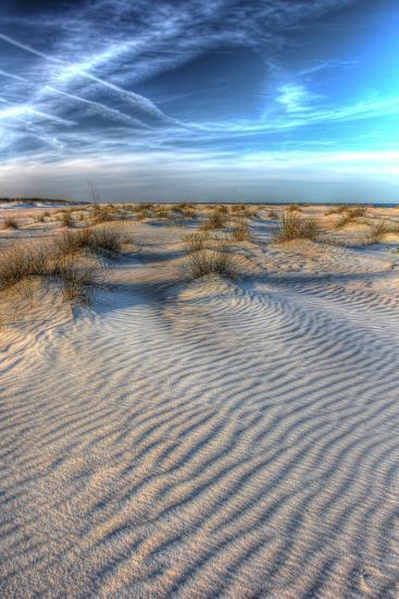 Dune Lines Vertical-Robert Goldwitz-Photographic Print
