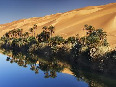 Dune rising from Um el Ma Lake-Frank Krahmer-Photographic Print