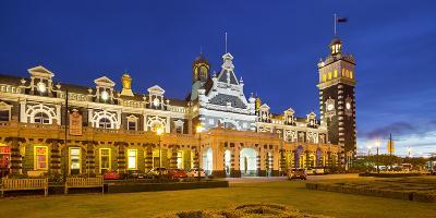 Dunedin, Railway Station, Otago, South Island, New Zealand-Rainer Mirau-Photographic Print