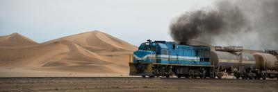 Dunes and Train, Walvis Bay, Namibia--Photographic Print