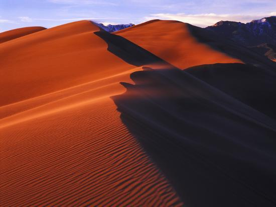 Dunes at Sunset, Great Sand Dunes National Park, Colorado-Keith Ladzinski-Photographic Print