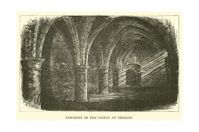 Dungeons in the Castle of Chillon--Giclee Print