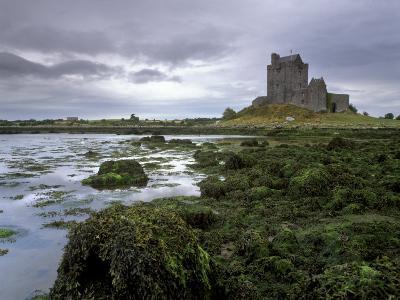 Dunguaire Castle and Coast, Near Kinvarra, County Galway, Connacht, Republic of Ireland-Patrick Dieudonne-Photographic Print