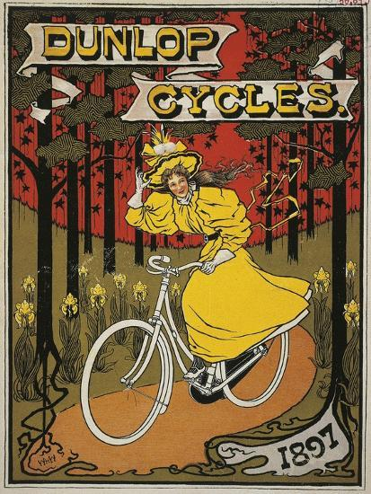Dunlop Cycles Catalogue. Front Cover, 1897--Giclee Print
