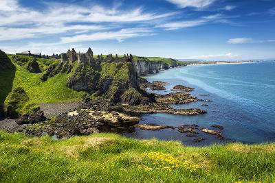 Dunluce Castle on the North Coast of Northern Ireland-Chris Hill-Photographic Print