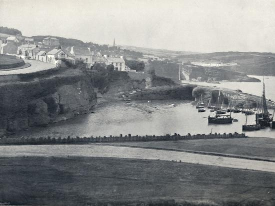 'Dunmore - The Town and the Harbour', 1895-Unknown-Photographic Print
