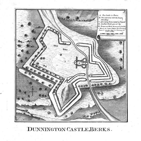 'Dunnington Castle, Berks.', late 18th century-Unknown-Giclee Print