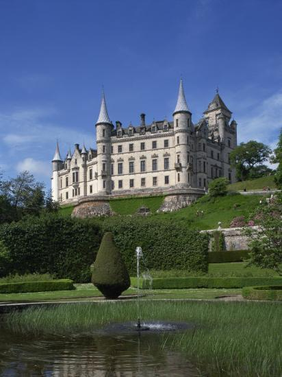 Dunrobin Castle, Sutherland, Scotland, United Kingdom, Europe--Photographic Print
