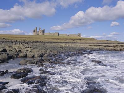 Dunstanburgh Castle and the Coast, Northumbria (Northumberland), England, UK, Europe-Charles Bowman-Photographic Print