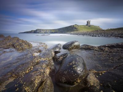 Dunstanburgh Castle with Rocky Coastline in Foreground, Embleton Bay, England-Lee Frost-Photographic Print