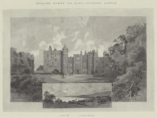Dunster Castle-Charles Auguste Loye-Giclee Print
