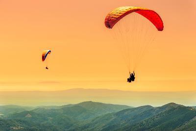 Duo Paragliding Flight-Aurelien Laforet-Photographic Print