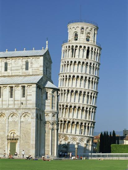 Duomo and the Leaning Tower in the Campo Dei Miracoli, Pisa, Tuscany, Italy-Gavin Hellier-Photographic Print
