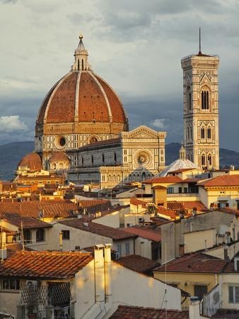 Duomo, Florence Cathedral at Sunset, Basilica of Saint Mary of the Flower, Florence, Italy-Adam Jones-Photographic Print