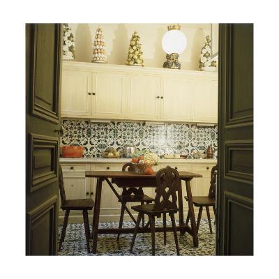 Duplicate of the Kitchen in Contessa Brandolini D'Adda's Paris Apartment--Premium Photographic Print